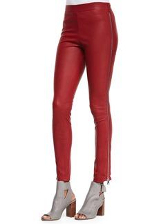 Vince Side-Zip Leather Leggings