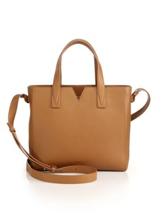 Vince Signature Baby Leather East-West Tote