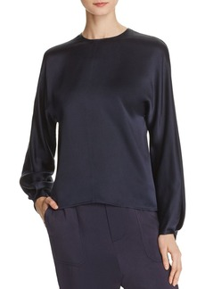 Vince Silk Back Slit Blouse