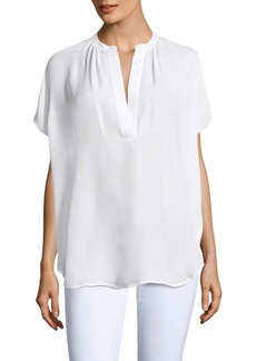 Vince Silk Dolman-Sleeved Blouse