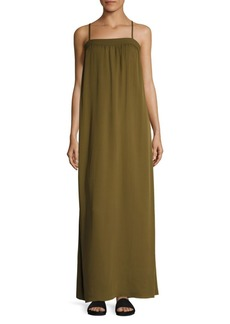 Vince Silk Embroidered Maxi Gown
