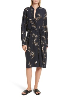 Vince Silk Floral Shirtdress