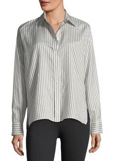 Vince Silk Menswear-Inspired Top