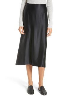 Vince Silk Midi Skirt