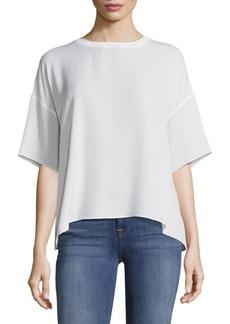 Vince Silk Rib Neck T-Shirt