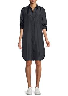 Vince Silk Shirt Long-Sleeve Dress