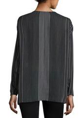 Vince Silk Stripe-Print Blouse