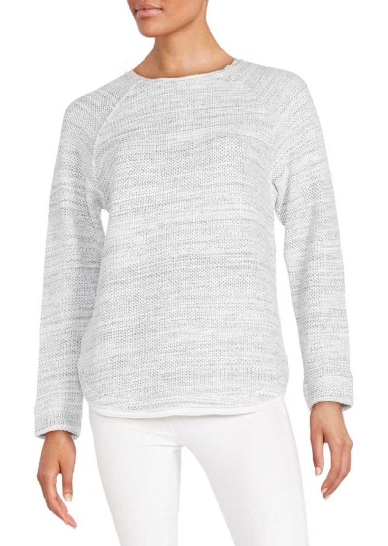 Vince Silk Trimmed-Knit Sweater