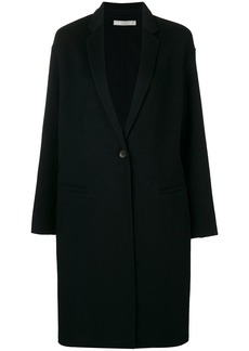 Vince single breasted midi coat - Black