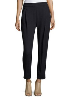 Vince Single-Pleat Textured Trousers