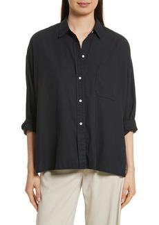 Vince Single Pocket Cotton & Silk Shirt