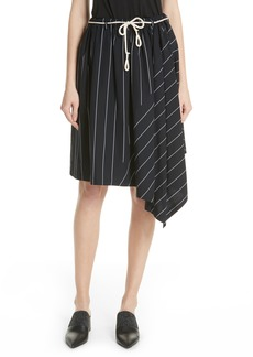 Vince Skinny Stripe Asymmetrical Cotton Skirt
