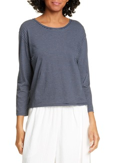 Vince Skinny Stripe Pima Cotton Top