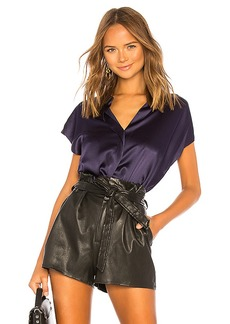 Vince Sleeveless Back Slit Blouse
