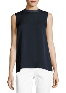 Vince Sleeveless Seam-Front Top
