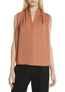 Vince Sleeveless Silk Blouse