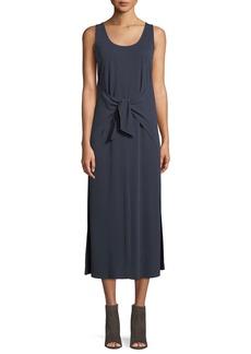 Vince Sleeveless Tie-Waist Midi Dress