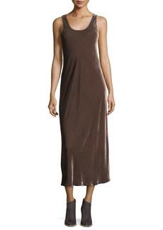 Vince Sleeveless Velvet Tank Maxi Dress