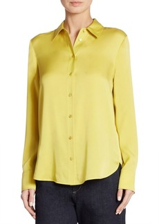 Vince Slim Button-Down Blouse