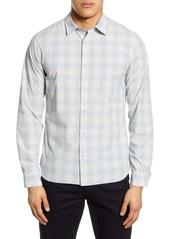 Vince Slim Fit Buffalo Check Button-Up Shirt