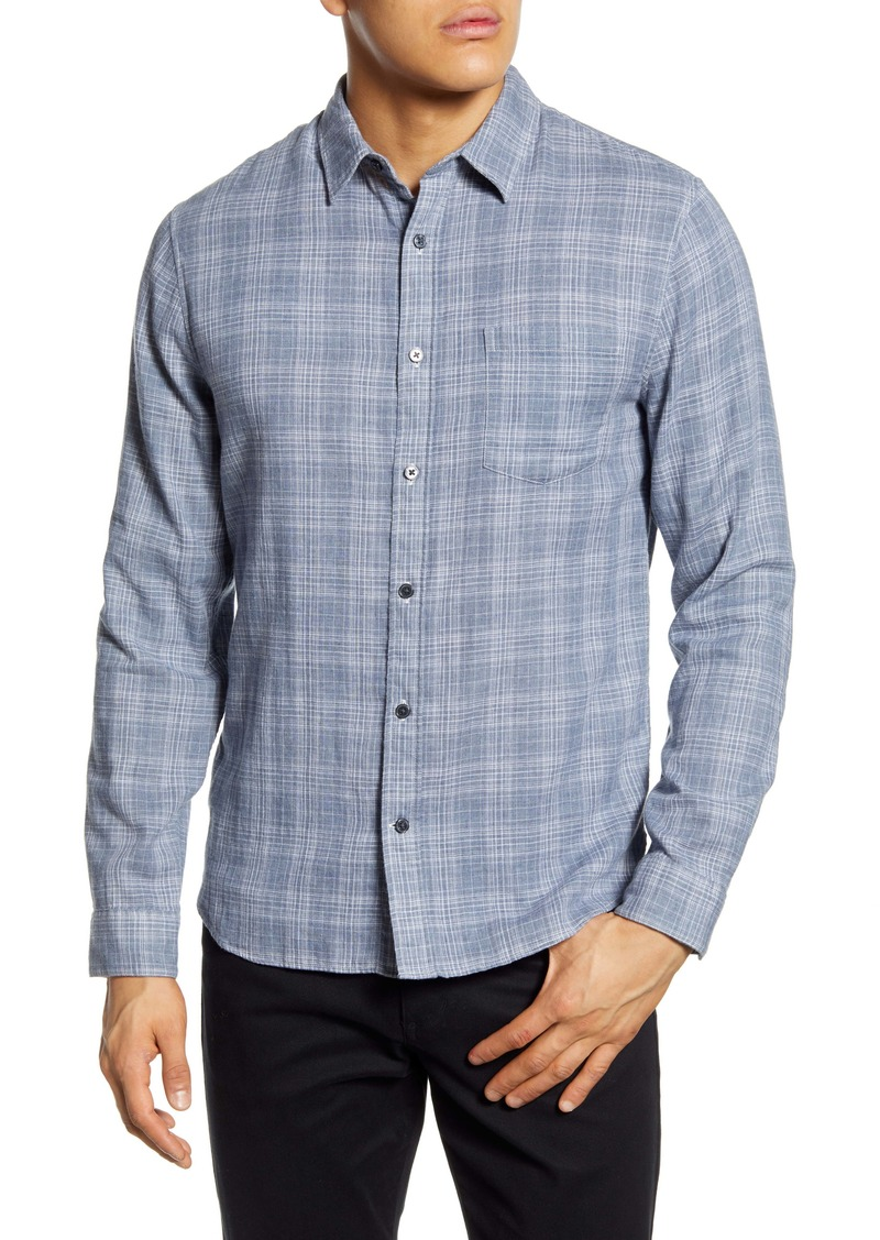 Vince Slim Fit Double Face Plaid Button-Up Shirt