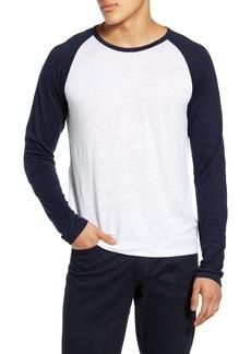 Vince Slim Fit Linen Baseball T-Shirt