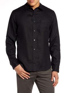 Vince Slim Fit Linen Shirt