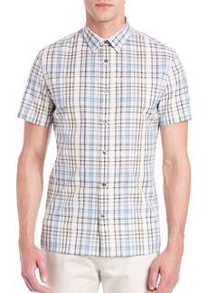 Vince Slim Fit Melrose Plaid Shirt