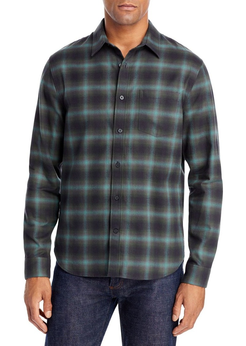 Vince Slim Fit Multi Shadow Plaid Shirt