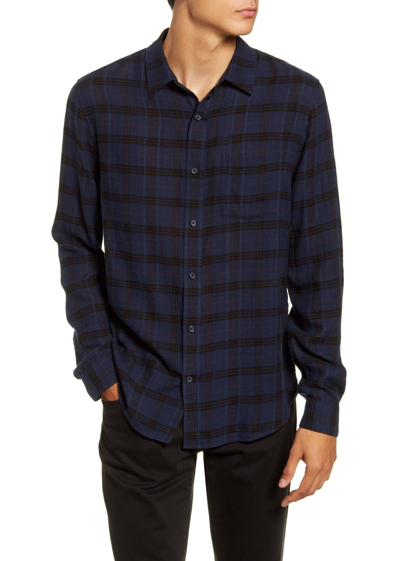 Vince Slim Fit Plaid Button-Up Shirt