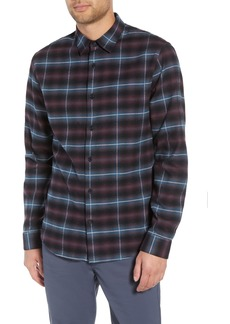 Vince Slim Fit Shadow Plaid Grid Sport Shirt