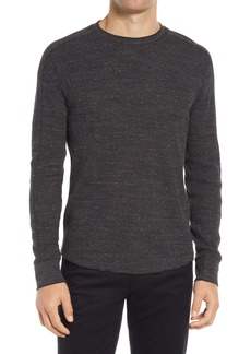 Vince Slim Fit Stretch Cotton Thermal Long Sleeve T-Shirt