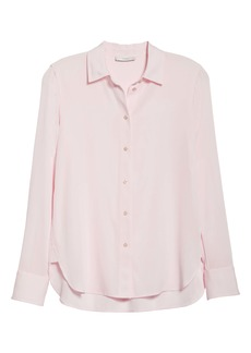 Vince Slim Fit Stretch Silk Shirt
