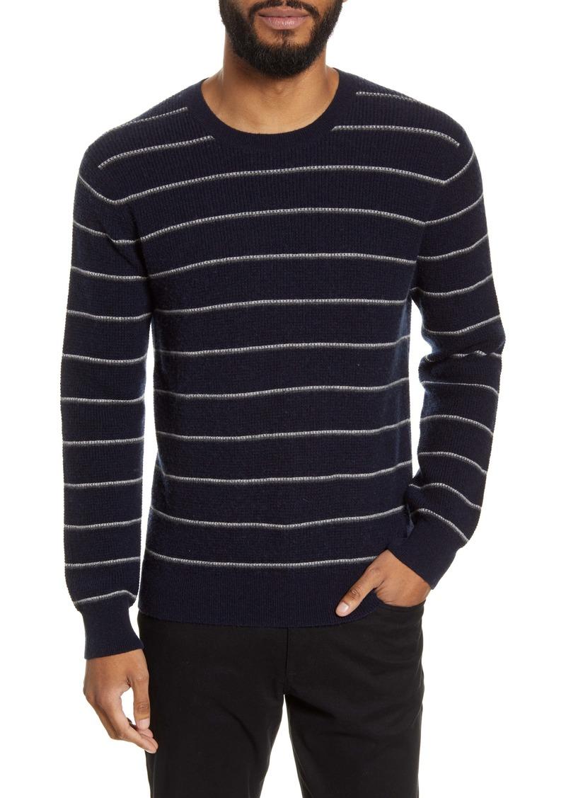 Vince Slim Fit Stripe Crewneck Wool & Cashmere Sweater