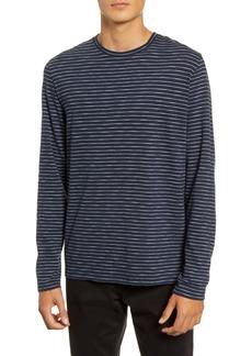 Vince Slim Fit Stripe Long Sleeve T-Shirt