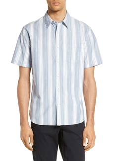 Vince Slim Fit Variegated Stripe Shirt