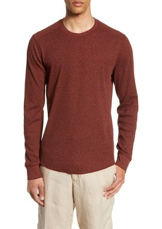 Vince Slim Fit Waffle Knit Long Sleeve T-Shirt