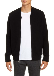 Vince Slim Fit Zip Front Wool & Cashmere Sweater