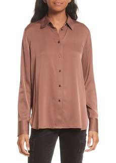 Vince Slim Stretch Silk Blouse