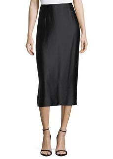 Vince Slip Silk Midi Skirt