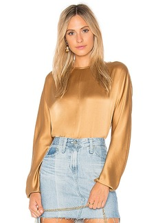 Vince Slit Back Blouse in Metallic Gold. - size S (also in L,M)