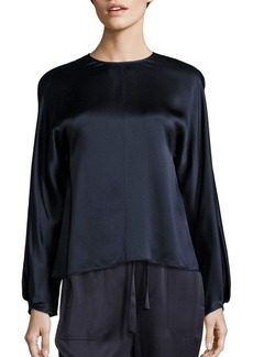 Vince Slit Back Silk Blouse