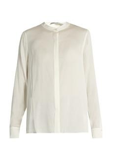 Vince Slit-back stretch-silk blouse