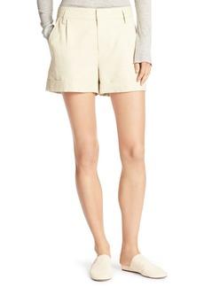 Vince Slouchy Sateen Single-Pleat Shorts