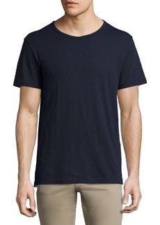 Vince Slub Short-Sleeve Crewneck T-Shirt  Navy