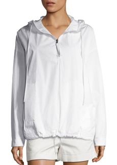 Vince Solid Cotton Hoodie