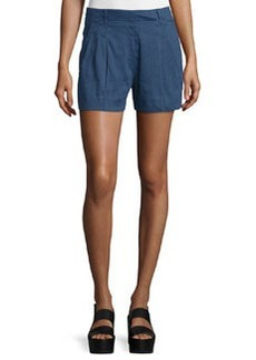 Vince Solid Linen-Blend Shorts