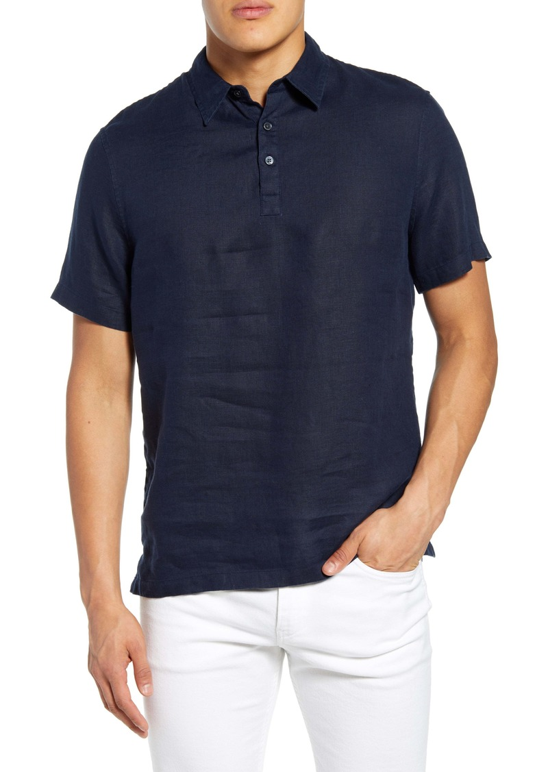 Vince Solid Linen Polo