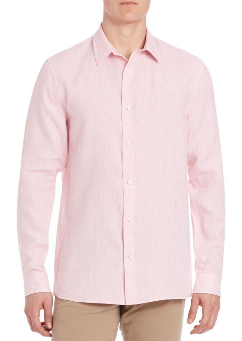 Vince Solid Linen Shirt
