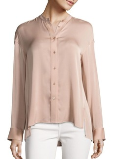 Vince Solid Pintuck Blouse